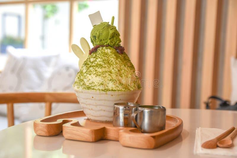 Tè verde di Bingsu fotografie stock