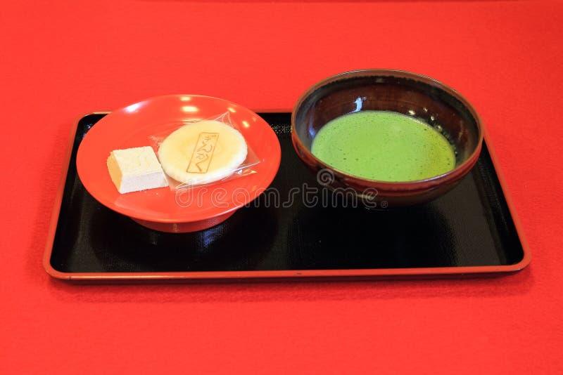 Tè verde di Matcha del giapponese fotografie stock libere da diritti