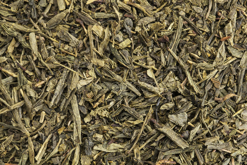Tè verde di Sencha immagini stock