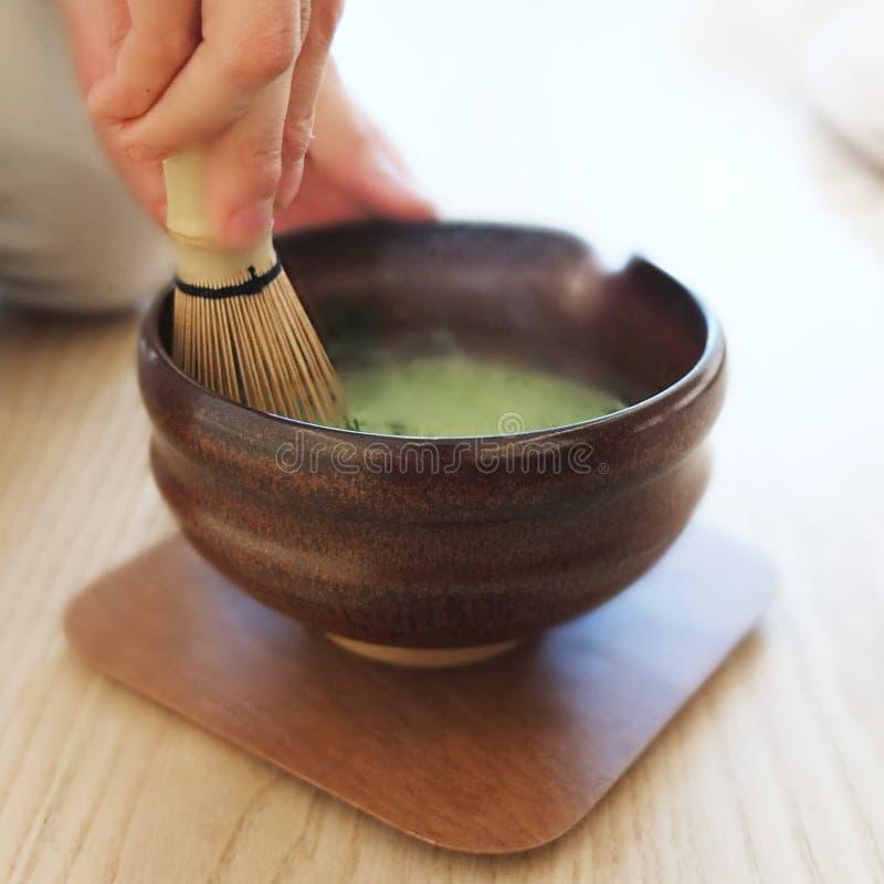 Tè verde Giappone fotografia stock libera da diritti