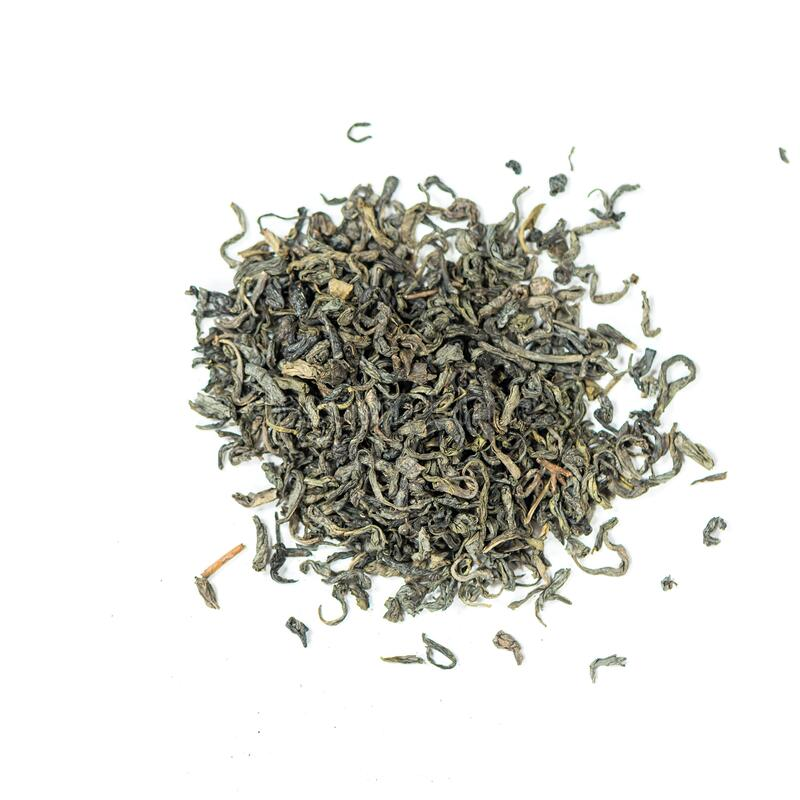 Tè verde intero in foglia cinese fotografie stock libere da diritti