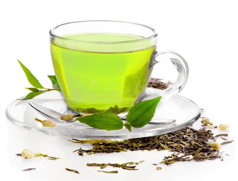 Tè verde sano fotografia stock libera da diritti