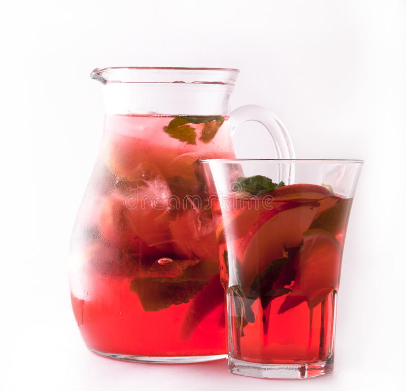 Té de hielo rojo de la fruta fotos de archivo libres de regalías