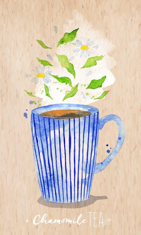 Té de manzanilla de la taza de té Kraft libre illustration