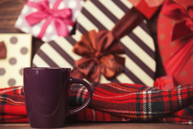 Té del invierno en una taza imagen de archivo libre de regalías