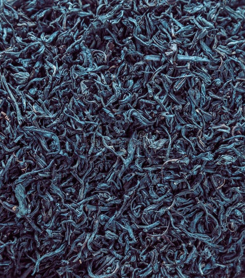 Té negro de la hoja, textura imágenes de archivo libres de regalías
