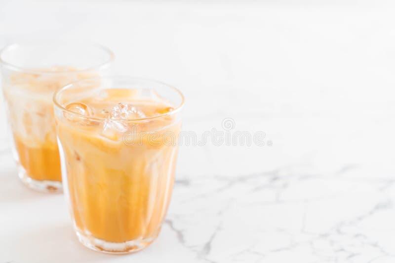 Té tailandés de la leche foto de archivo