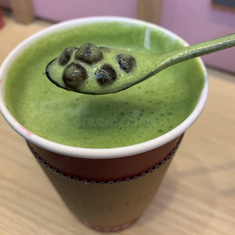 té verde de la burbuja imágenes de archivo libres de regalías