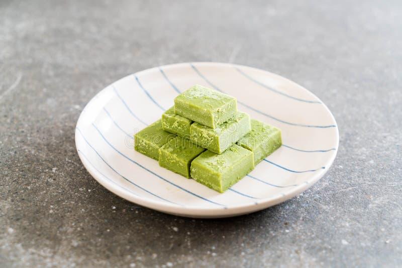 té verde del chocolate suave imagen de archivo libre de regalías