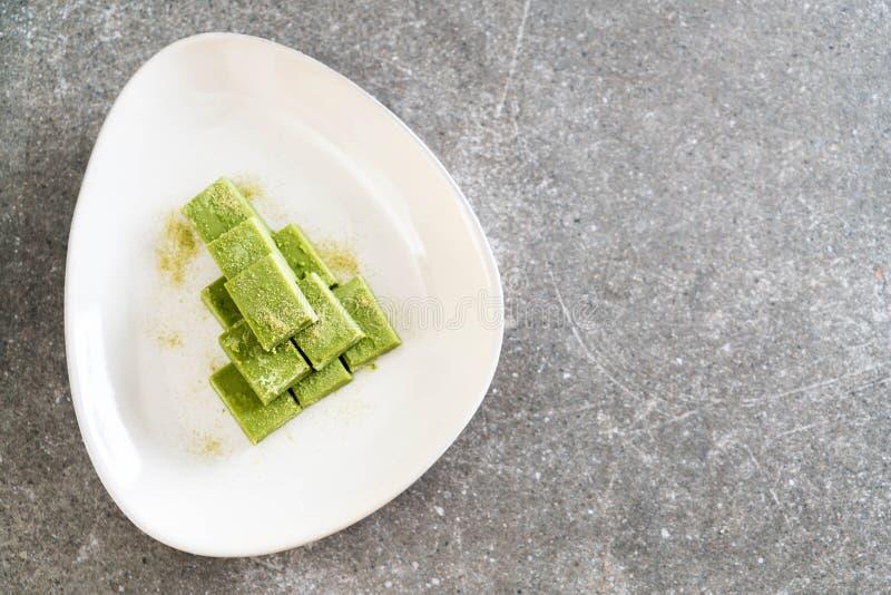 té verde del chocolate suave imágenes de archivo libres de regalías