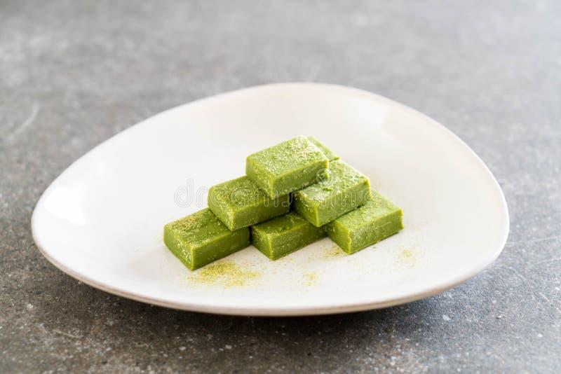 té verde del chocolate suave fotos de archivo libres de regalías
