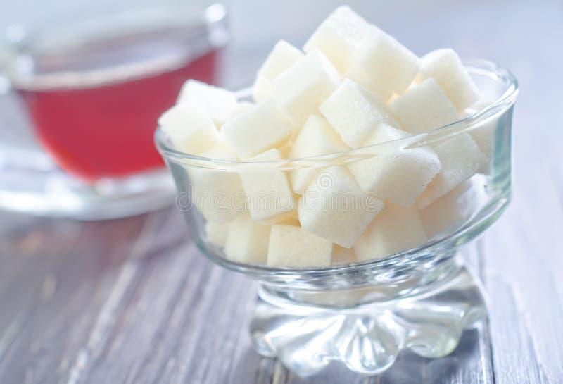Té y azúcar fotografía de archivo libre de regalías