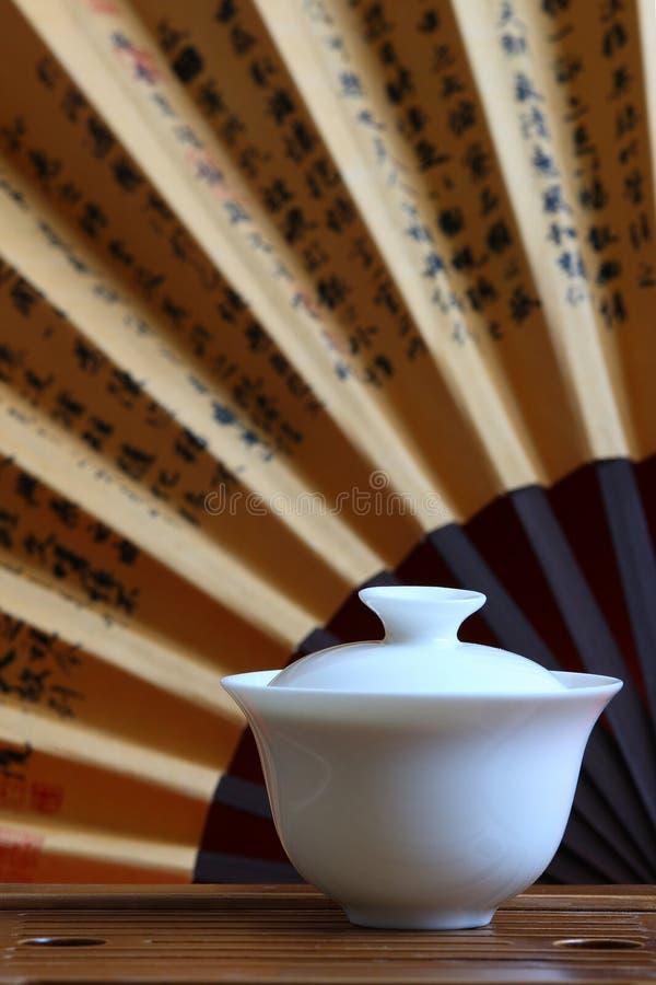 Té y conjunto de té chinos fotografía de archivo