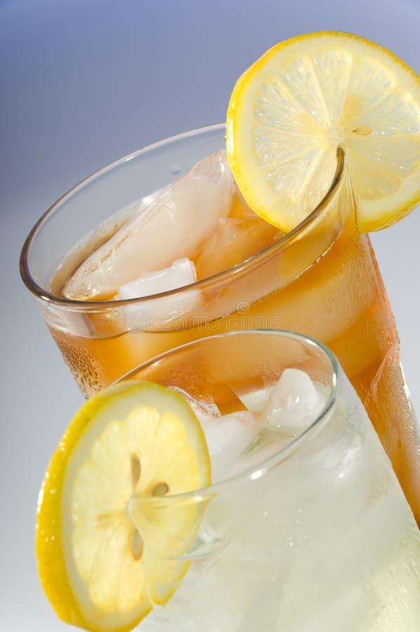 Té y Lemondade imagen de archivo libre de regalías