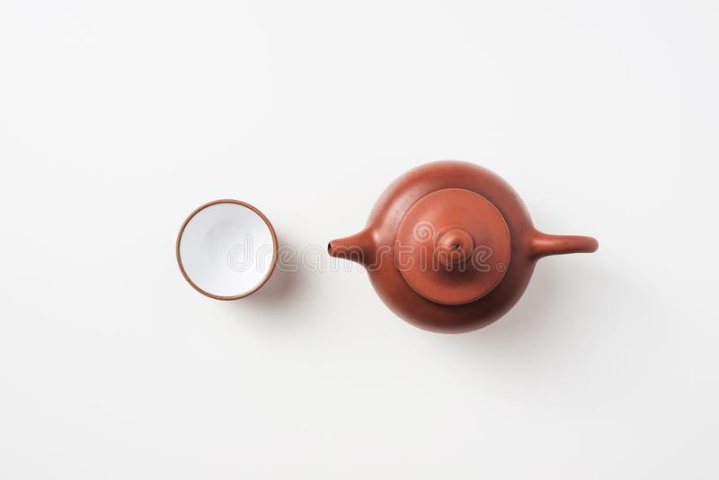 Té y tetera frescos del oolong de Taiwán fotografía de archivo libre de regalías