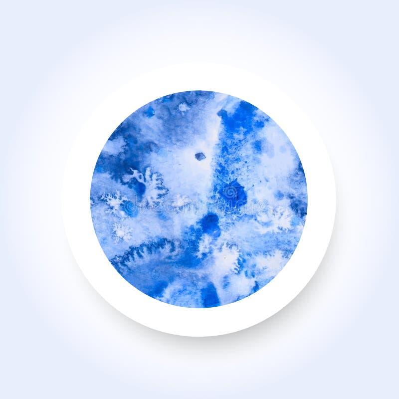 Técnica de la sal del lavado de la acuarela del círculo stock de ilustración