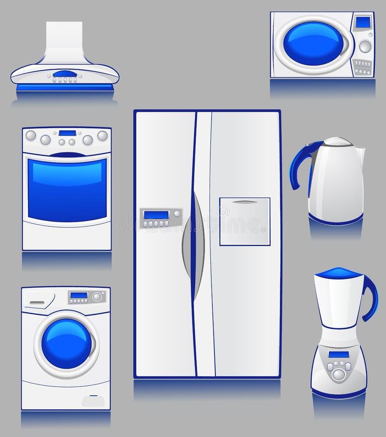 Técnica doméstica para uma cozinha ilustração stock