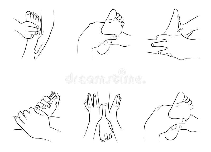 Técnicas del Reflexology libre illustration
