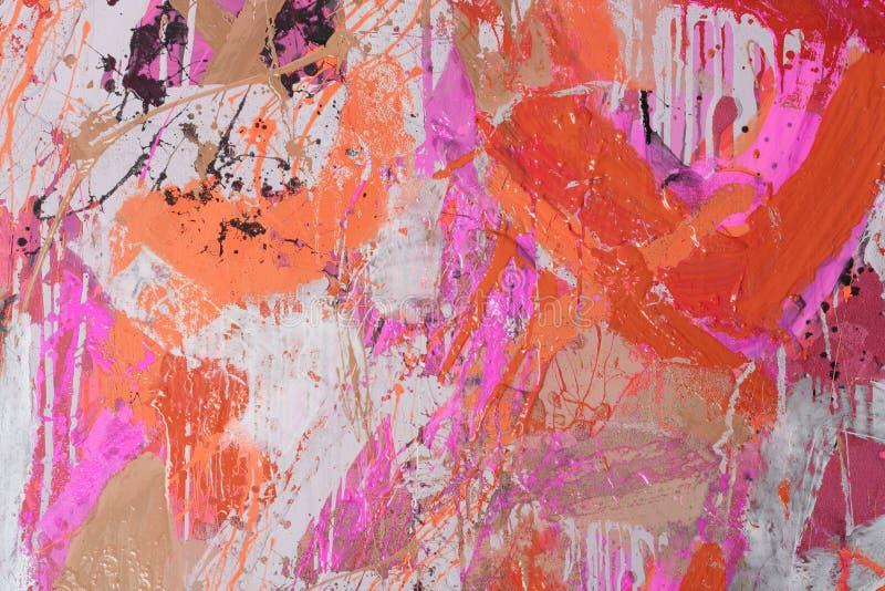 Técnicas misturadas, pintura abstrata imagem de stock