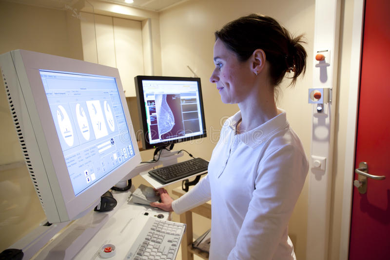 Técnico da radiologia foto de stock royalty free