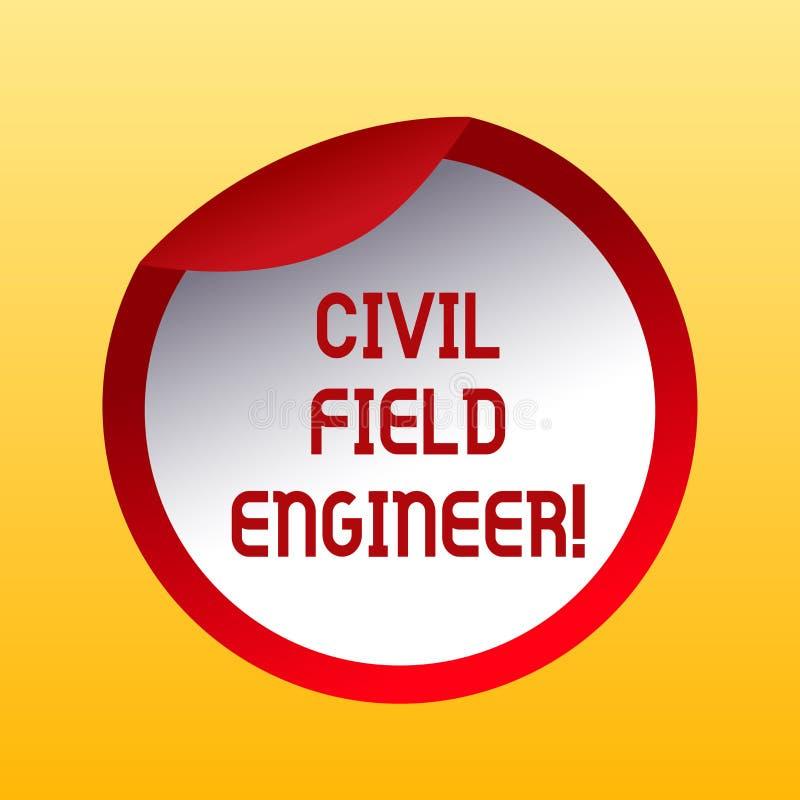 Técnico de mantenimiento civil del texto de la escritura El significado del concepto supervisa la construcción y el mantenimiento stock de ilustración