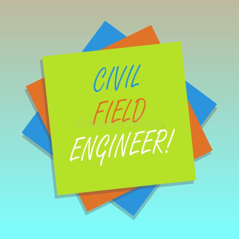 Técnico de mantenimiento civil del texto de la escritura El significado del concepto supervisa la construcción y el mantenimiento libre illustration