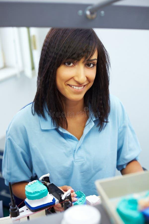 Técnico dental feliz imagens de stock royalty free
