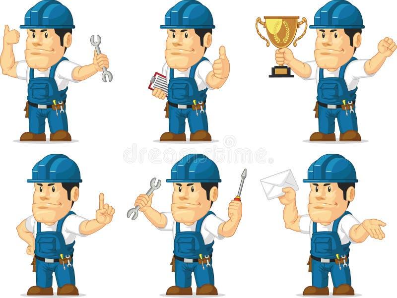 Técnico forte Mascot 3 ilustração royalty free