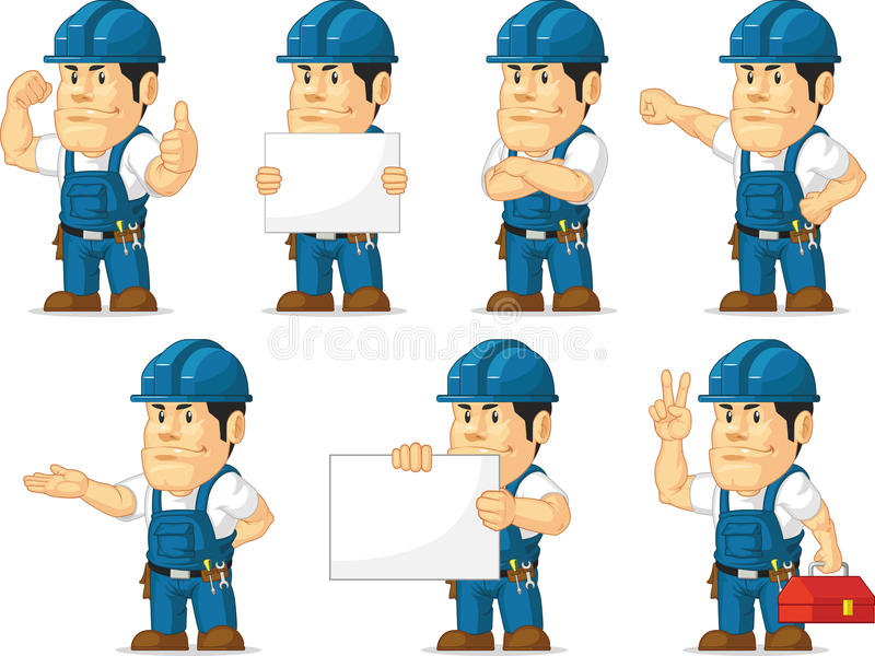 Técnico forte Mascot 11 ilustração royalty free