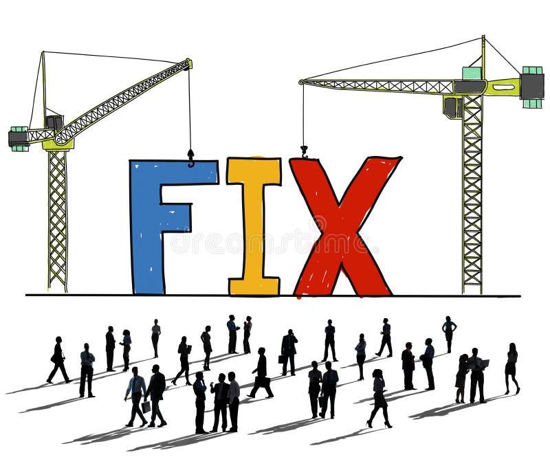 Técnico mecânico Maintenance Concept da solução do reparo do reparo ilustração royalty free