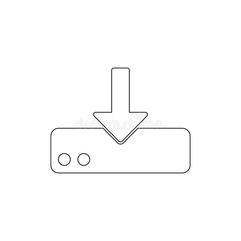Téléchargement à l'icône d'ensemble d'entraînement de stockage Des signes et les symboles peuvent ?tre employ?s pour le Web, logo illustration de vecteur