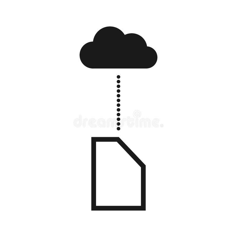 Téléchargement dans l'icône eps10 de vecteur de service de nuage Graphisme de nuage icône de nuage de téléchargement, illustratio illustration stock