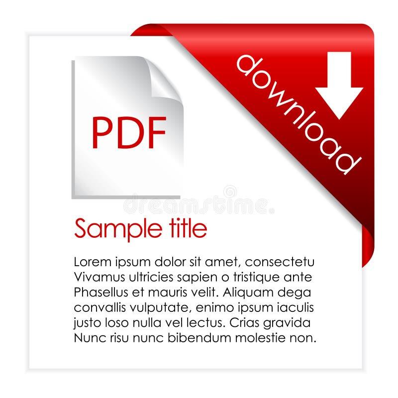 Téléchargement de PDF illustration stock
