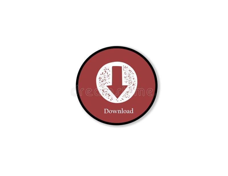 Téléchargement Icône sur le fond blanc d'isolement illustration stock