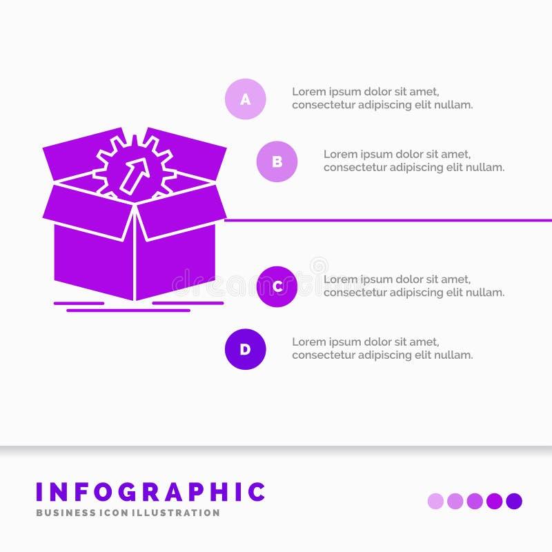 téléchargement, représentation, productivité, progrès, calibre d'Infographics de travail pour le site Web et présentation Ic?ne p illustration stock