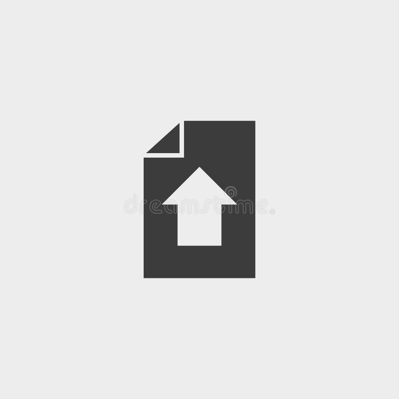 Téléchargez l'icône de document dans une conception plate dans la couleur noire Illustration EPS10 de vecteur illustration de vecteur
