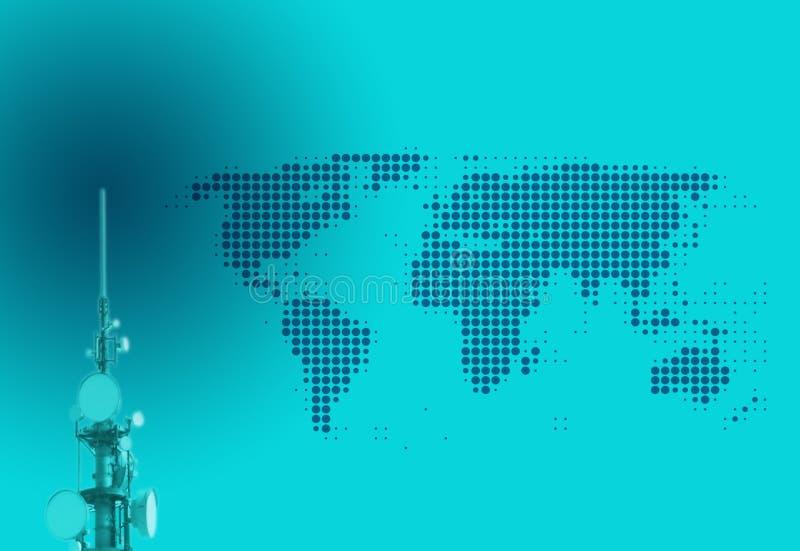 Télécommunication globale illustration de vecteur