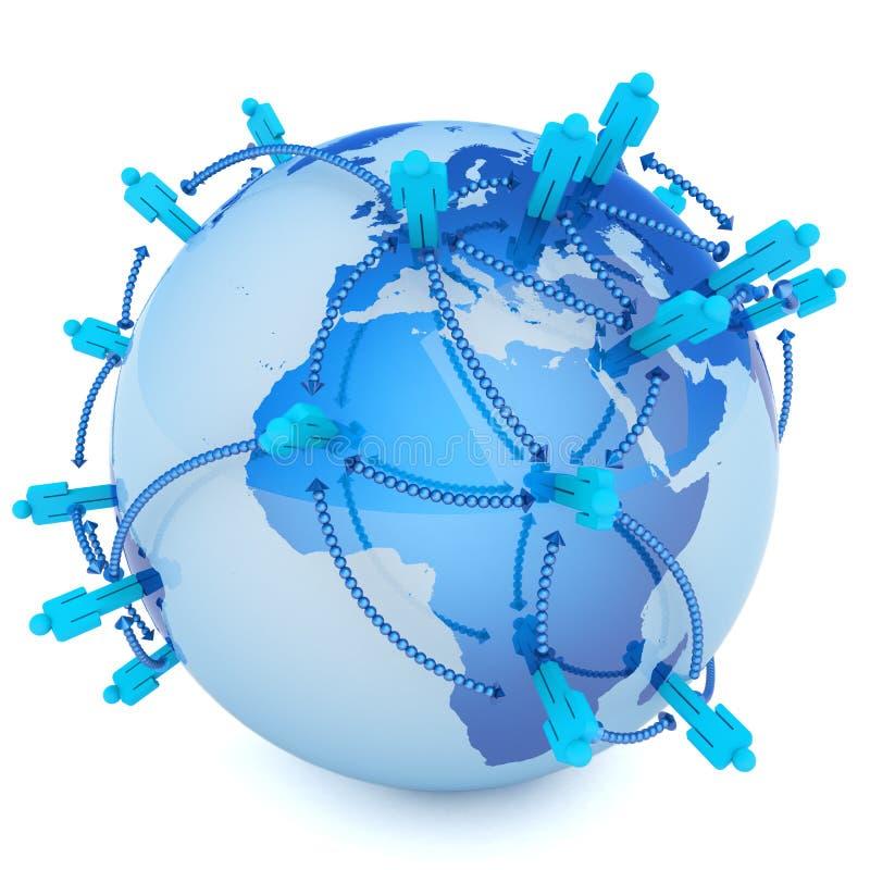 Télécommunication mondiale illustration de vecteur