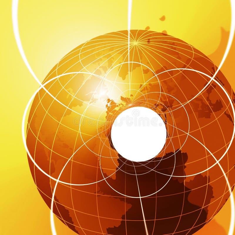 Télécommunication mondiale illustration stock