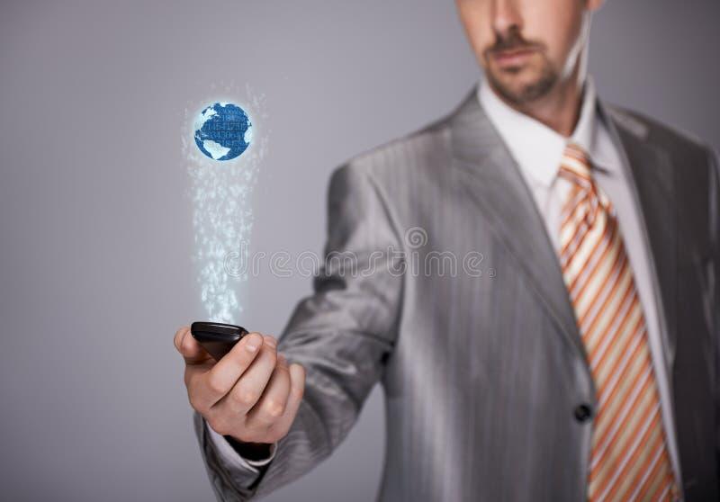 Télécommunication mondiale image stock