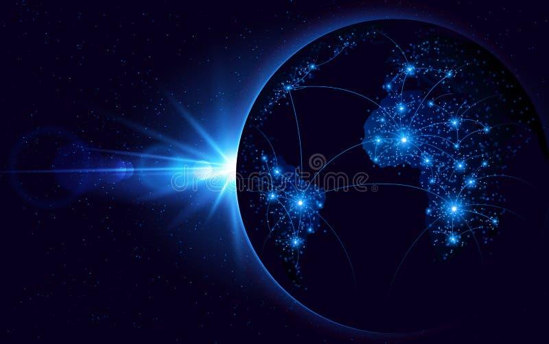 Télécommunication mondiale illustration libre de droits
