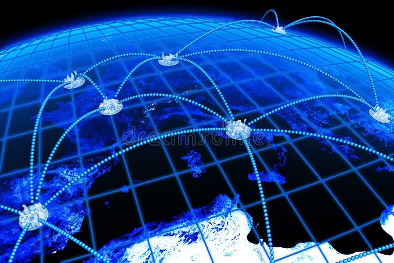 Télécommunications mondiales illustration libre de droits