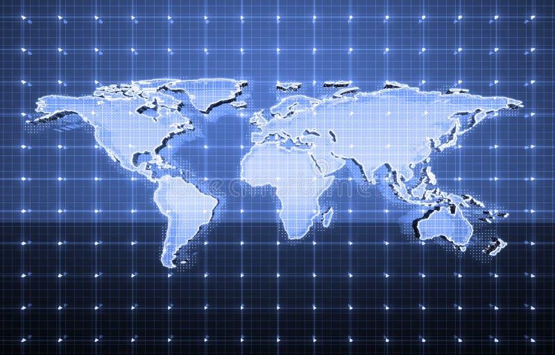 Télécommunications mondiales illustration stock