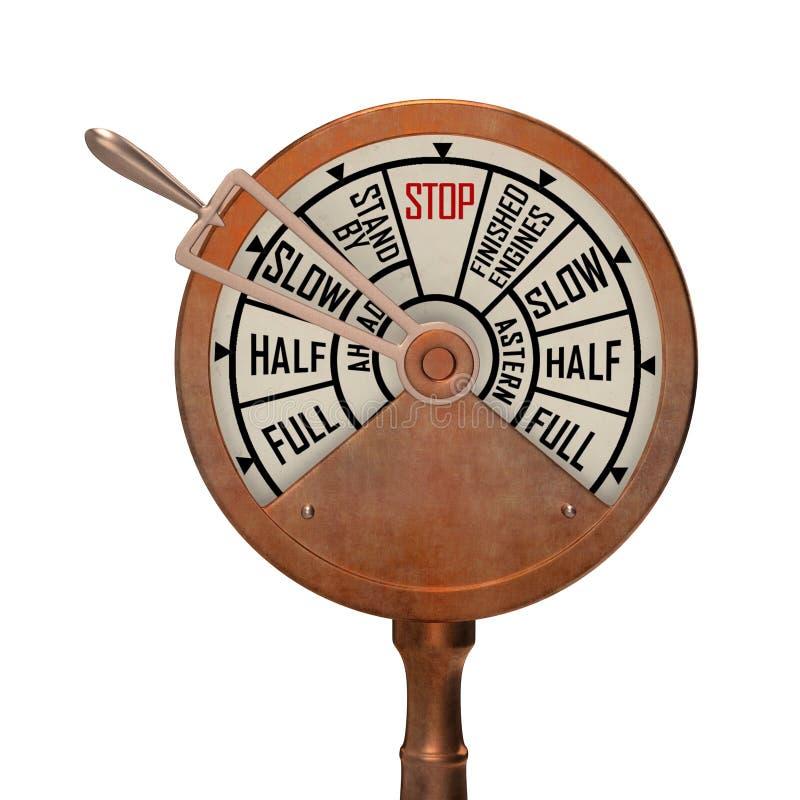 Télégraphe de bateau lent en avant illustration stock