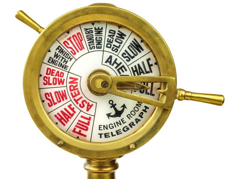 Télégraphe du 19ème siècle antique de salle des machines photographie stock libre de droits