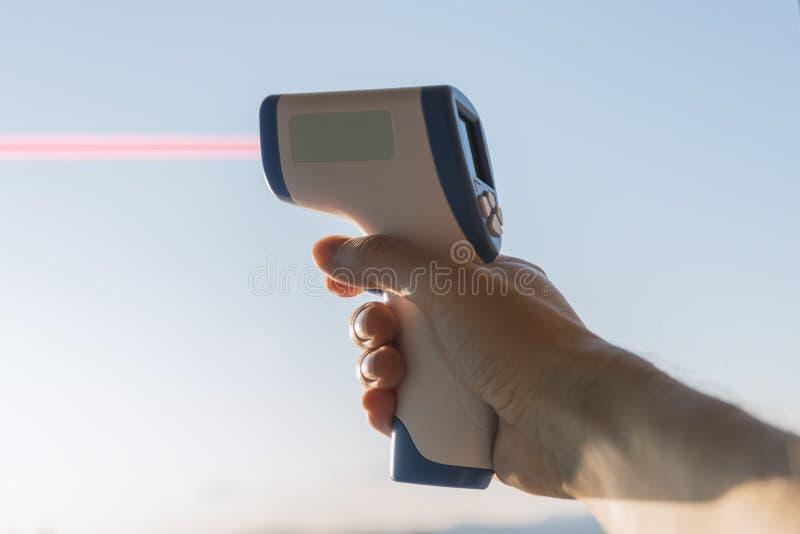 Télémètre de laser image stock