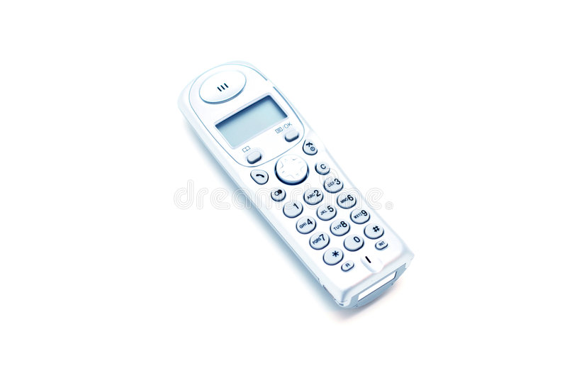 Téléphone à la maison moderne image libre de droits
