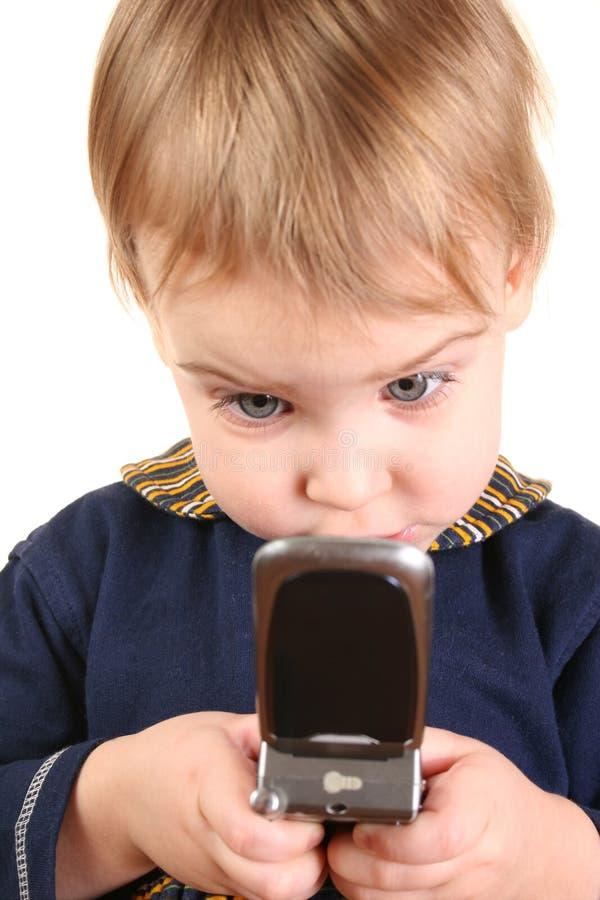 Téléphone 2 de poussée de chéri photo libre de droits