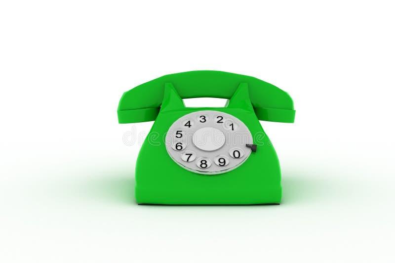 Téléphone 3d vert sur le fond blanc photographie stock