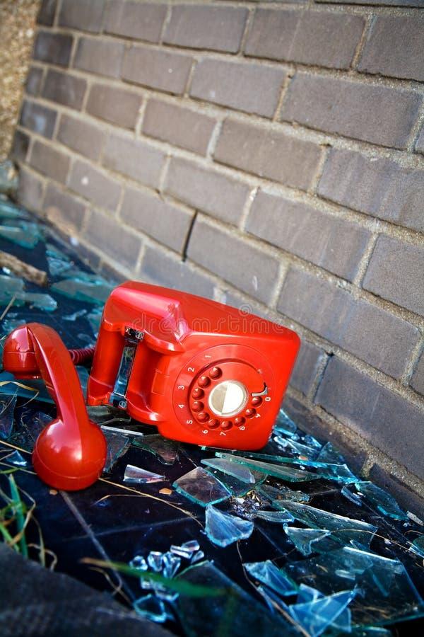 Téléphone abandonné image libre de droits